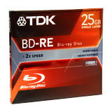 TDK 1-2X 25 GB DuraBis Blu-Ray Single-layer Rewri