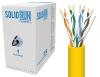 SolidRun by Sewell Bulk Cat6 Cable UTP 1000 ft. Y
