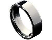Villon Flat Tungsten Wedding Band Size 11.5