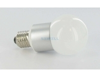 High Power LED Bulb 3W White 100lm E27 85-240VAC