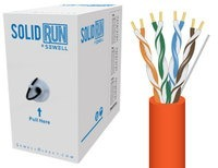SolidRun by Sewell Cat6 Bulk Cable UTP 1000 ft. O