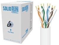 SolidRun Cat6 Bulk UTP CM Cable White 1000ft