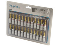 Sewell Silverback Banana Plugs Dual Screw Lock 12