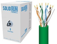 SolidRun by Sewell Cat5e Bulk Cable 24 AWG UTP 10