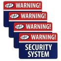Window Warning Sticker, 4 Pack