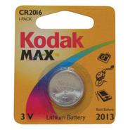 Max CR2016 Button Battery, 3.0 volt Lithium.