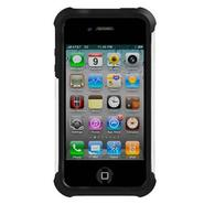 Shell Gel (SG) Case for iPhone 4/4S - Black/White