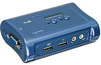 2-port USB KVM Switch Box