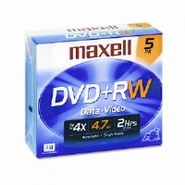 DISC,DVD+RW,JC,5/PK