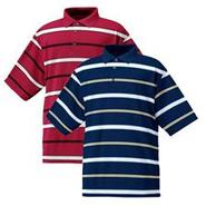Stretch Pique Jersey Stripe Shirt