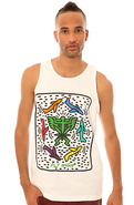 Men&#39;s The Street Pop Tank Top in White, Tank Tops