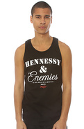 Men's The Hennessey & Enemies Tank in Black, Tank