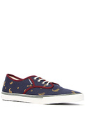 Men's The Slymz Sneaker in Navy & Citrus Paisley,