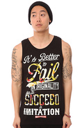 Men's The PS Fail Floral Tank Top in Black, Tank T