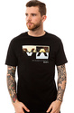 Men&#39;s The Horizon Box Tee in Black, T-shirts