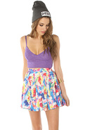Women's The Annabella Circle Skirt in Flower Buzz,