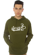 Men's The Mr Swirv Hoodie in Dark Green, Sweatshir