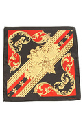 Men&#39;s The Flourish Handkerchief in Caviar, Scarves