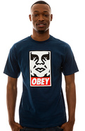 Men's The Obey Icon Face Tee in Patrol Blue, T-shi