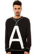 Men's The A Crewneck in True Black, Sweatshirts
