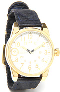 Men's The Field & Research Watch in Gold & White,