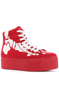 Women's The Hiya Skeleton Sneaker in Red, Sneakers