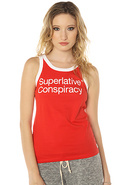Women's The SC Classic Tank in Blood Red, Tops (Sl