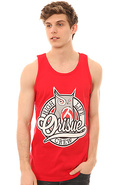 Men's The High Life Crew Tank in Red, Tank Tops