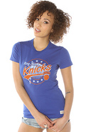Women's The NY Knicks 2013 Vintage Tee in Blue, T-