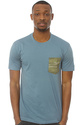 Men&#39;s The Camo Pocket Tee in Faded Denim, Basic T-