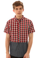 Men's Dip Shit S/S Shirt in Red, Buttondown Shirts