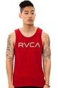 Men&#39;s The Big RVCA Tank in Red, Tank Tops