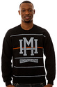 Men&#39;s The Stripes Crewneck Sweatshirt in Black, Sw