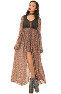 Women's The Jagger Dress in Paisley, Dresses