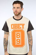 Men's The Obey Jersey in Natural Jet Black, T-shir
