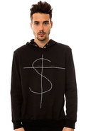 Men's The Printed Hoody in Black, Sweatshirts