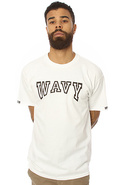 Men's The Wavy Tee in White, T-shirts