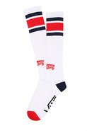 Men's The Striped Tall Boy Crew Socks in White, So