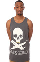 Men&#39;s The Planes &amp; Bones Tank in Charcoal, Tank To