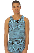 Men's The Antigone Tank in Blue, Tank Tops