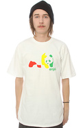 Men&#39;s The Rasta Panda Tee in White, T-shirts