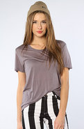 Women's The Beau Modal Relaxed Tee in Shark, T-shi