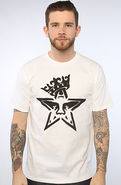 Men's The Star Crown Stencil Tee in White, T-shirt