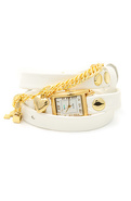 Women's The Paris Charm Watch in White Patent, Wat
