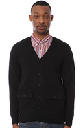 Men's The Selby Cardigan in Black, Sweaters
