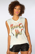 Women's The Heaven Can Wait Top in Sky Dye, T-shir