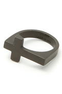 Men's The Mr. Cross Ring in Matte Black, Jewelry
