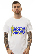 Men's The Boston Strong Stride Tee in White, T-shi