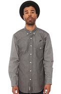Men's The Hilton Buttondown Shirt in Black, Button