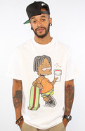 Men's The Black Bart Tee in White, T-shirts